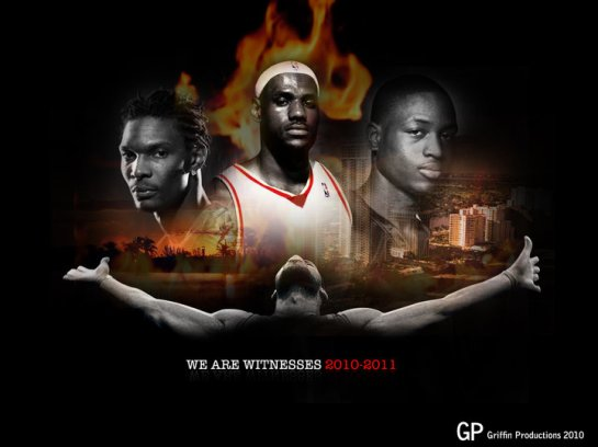 BIG 3 Miami Heat designed by Hakim Griffin Griffin Productions