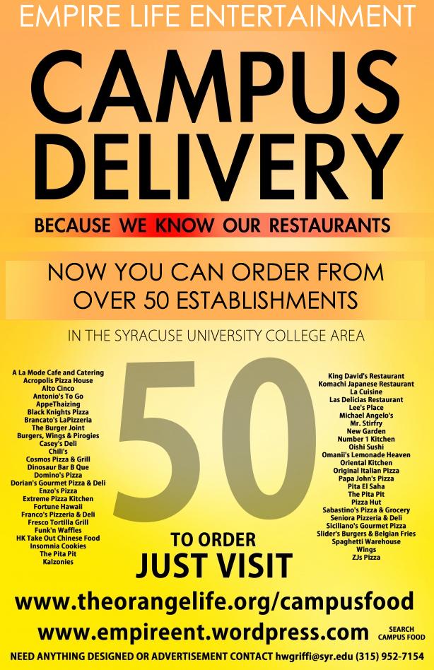 Campus Food Delivery Syracuse