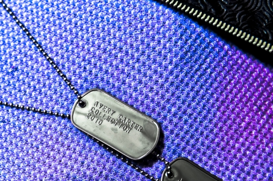 Avery Carter Fashion Design: photography by Luke McComb dog tags