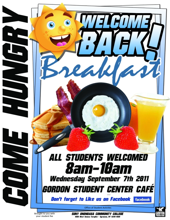 OCC welcome back breakfast designed by hakim griffin and griffin productions