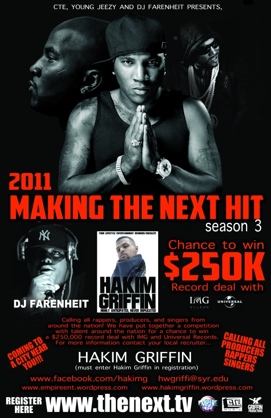 young jeezy dj farenheit making the next hit season 3 poster poster designer by hakim griffin