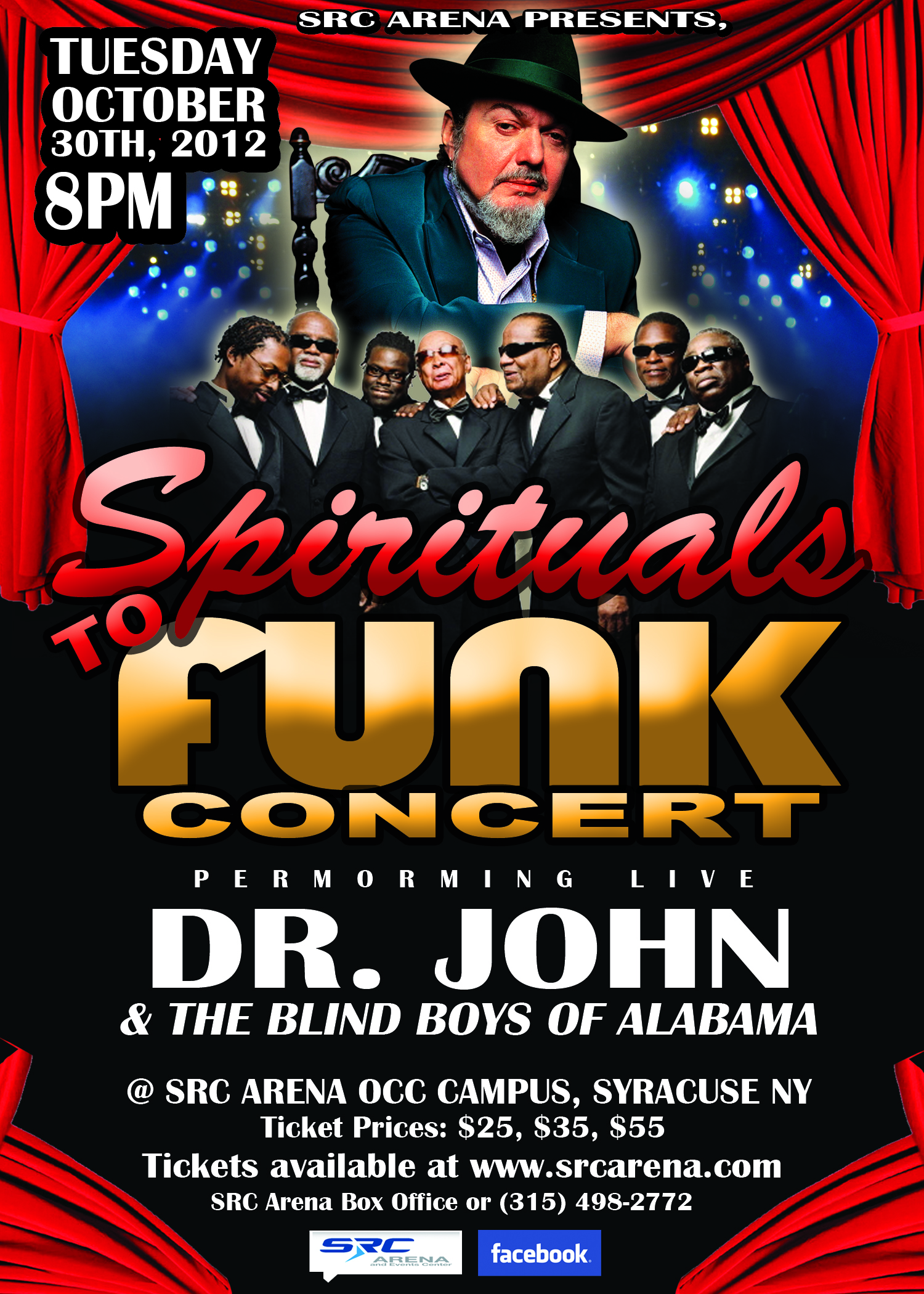 Spirituals To Funk Concert in Syracuse at The SRC Arena October