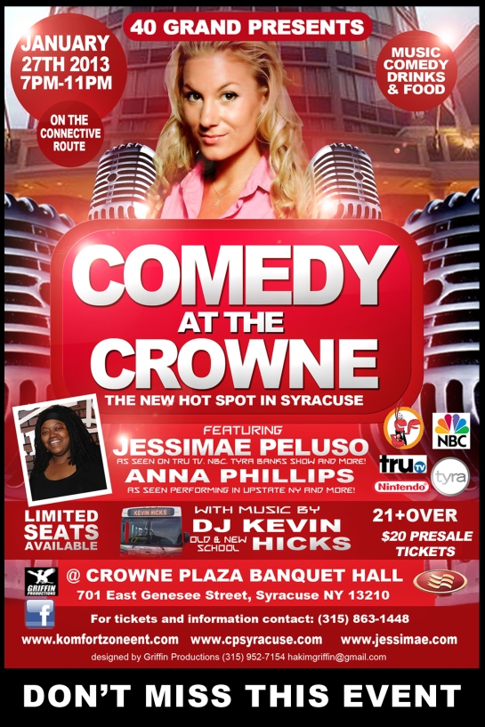 comedy at the crowne january 27th flyer4x6