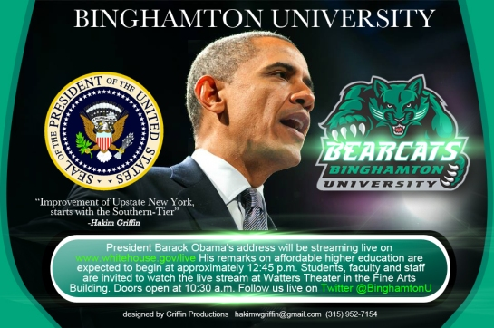 griffin productions binghamotn university brack obama flyer created by hakim griffin