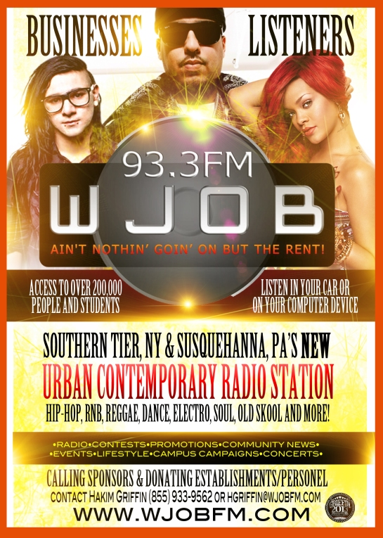 WJOB griffin production 5x7 flyer