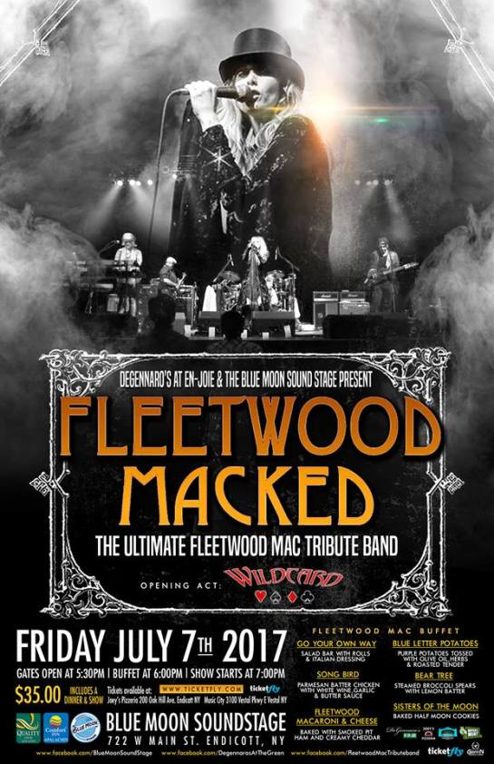 fleetwood macked blue moon sound stage poster