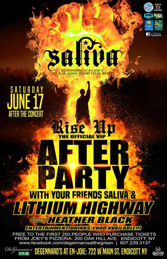 saliva vip after party with lithium highway